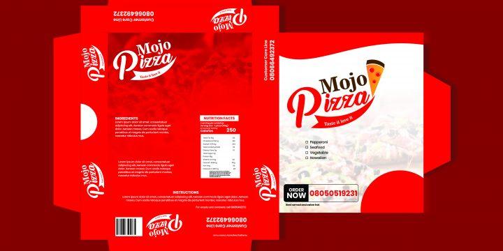 2D Design of a Pizza Box